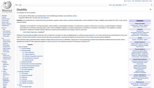 Disability Wikipedia January 1